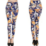 Sexy Women's Skull Printed Leggings