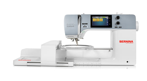 NEW Bernina 570QEe (Quilt edition + Embroidery Module) WITH FREE TROLLEY BAG