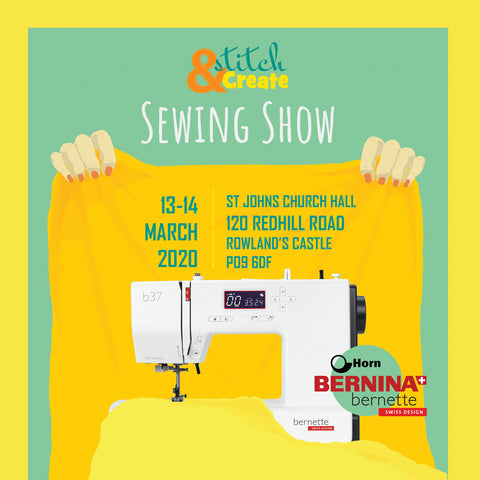 STITCH and CREATE sewing show with BERNINA