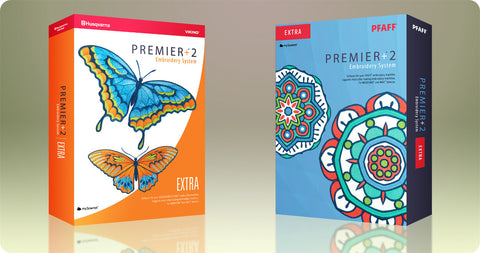 PFAFF® PREMIER Plus ™ 2 Embroidery Extra Software