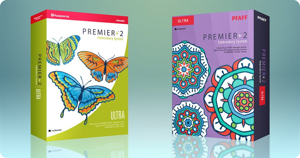 PFAFF® PREMIER Plus ™ 2 Ultra Embroidery Software Full System