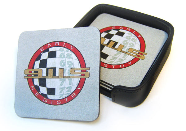 Early 911S Leather Coaster Set