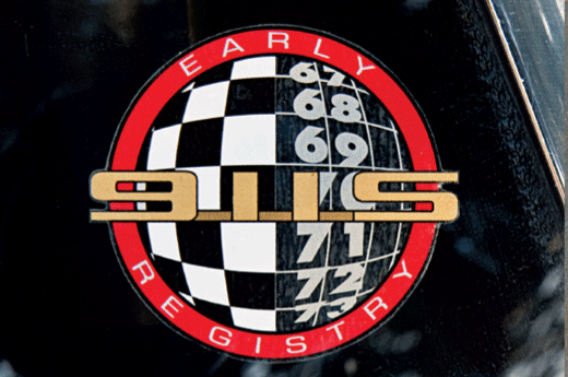 Early 911S Registry Decal