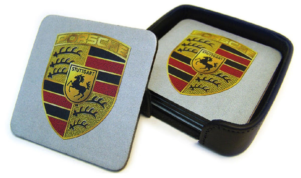 Porsche Leather Coaster Set