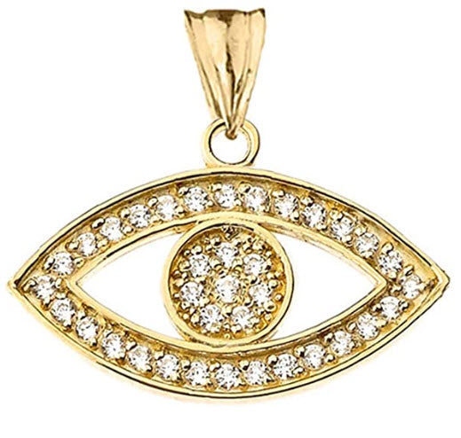 Evil Eye Diamond Necklace  (Top Online Selections)