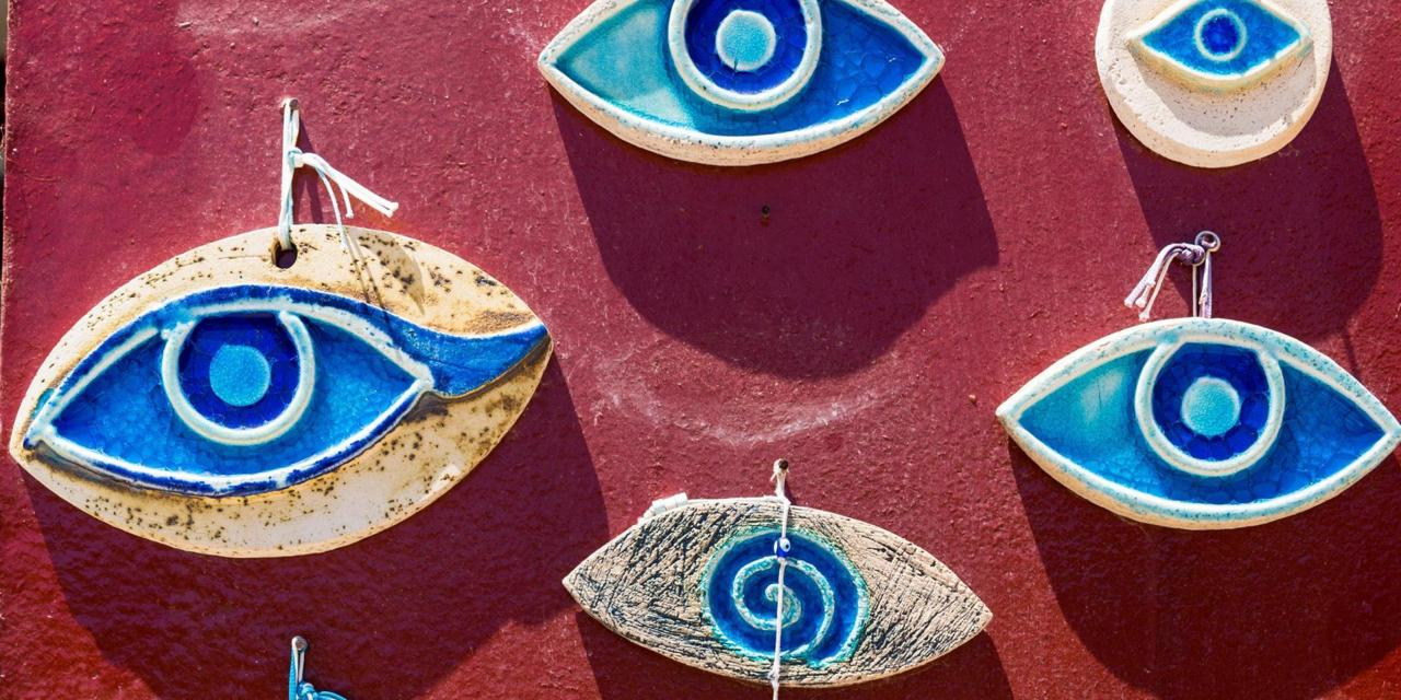 Beautiful handmade evil eye charms