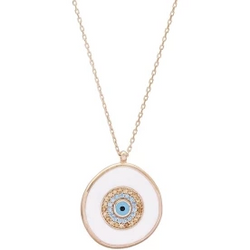 Angela Sterling Silver Charm Necklace - Evil Eye Collective