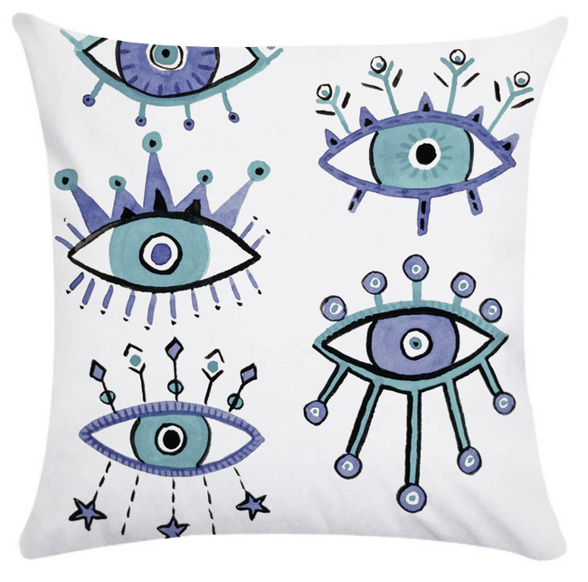 Colorful Evil Eye Pillow