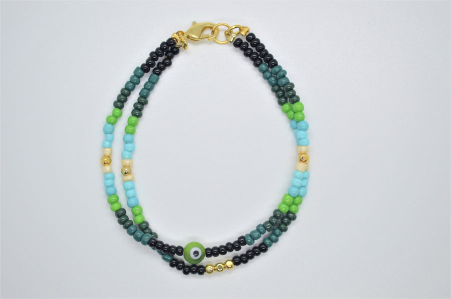 Ophelia Beaded Bracelet - Evil Eye Collective