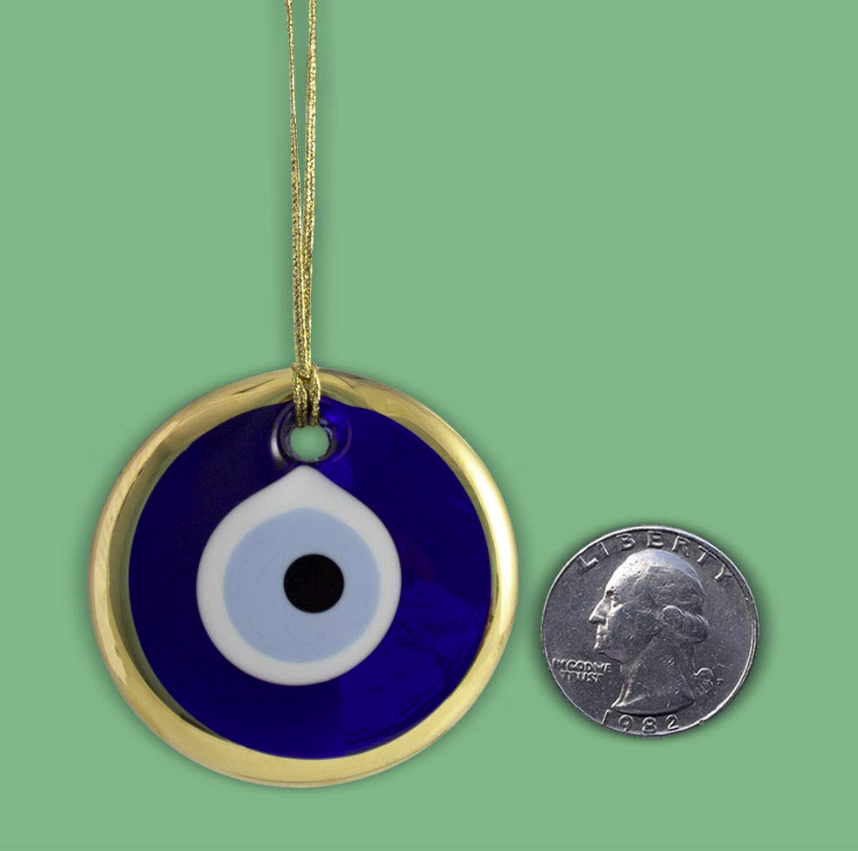 Handmade Evil Eye Glass Ornament