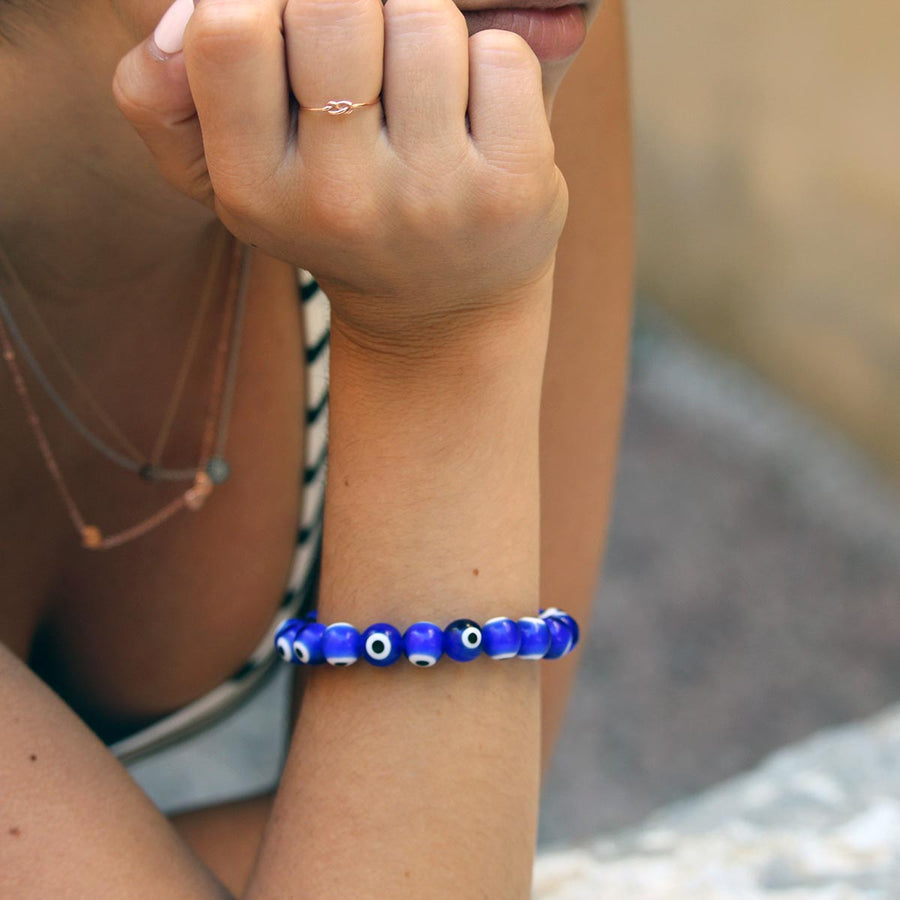 Vithia Glass Evil Eye Beaded Bracelet - Evil Eye Collective