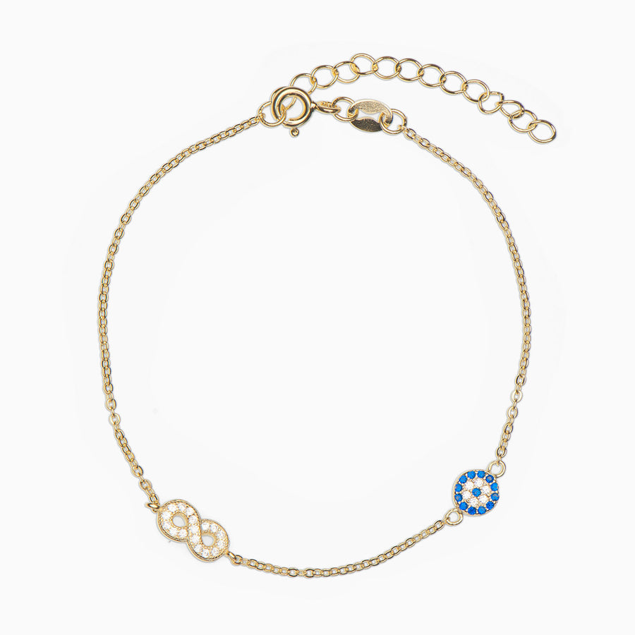 Nika Infinity Sterling Silver Bracelet - Evil Eye Collective