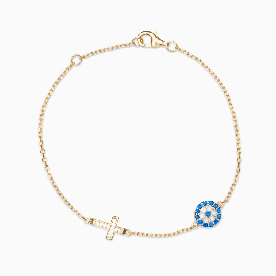 Tammy Sterling Silver Cross Bracelet - Evil Eye Collective