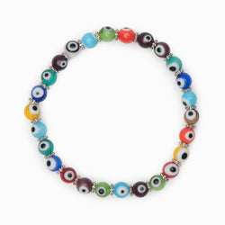 Mikra Multicolor Beaded Bracelet - Evil Eye Collective