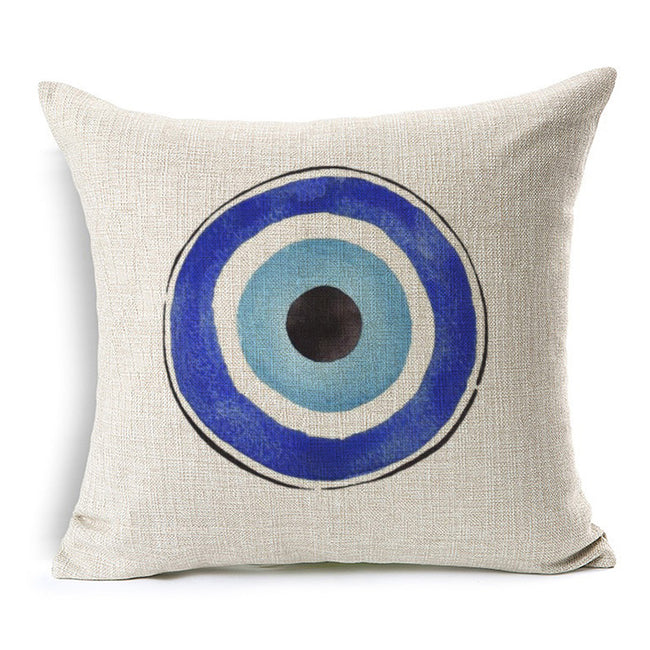 Evil Eye Watercolor Pillow - Evil Eye Collective