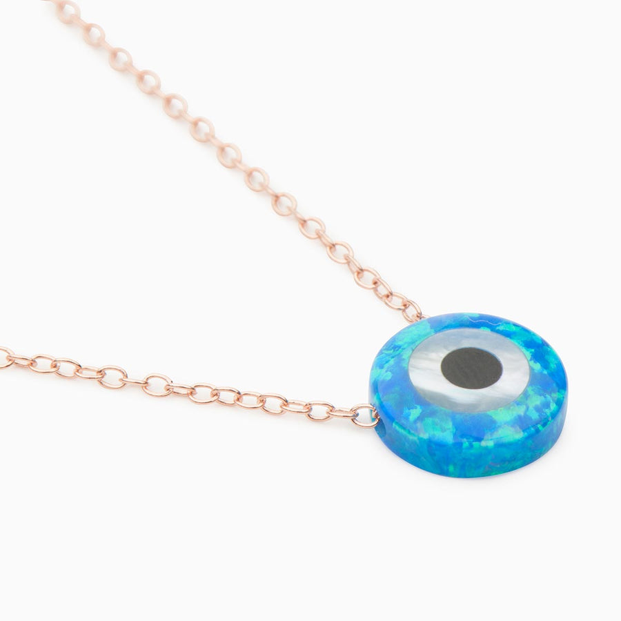Rusu Opal Sterling Silver Necklace - Evil Eye Collective