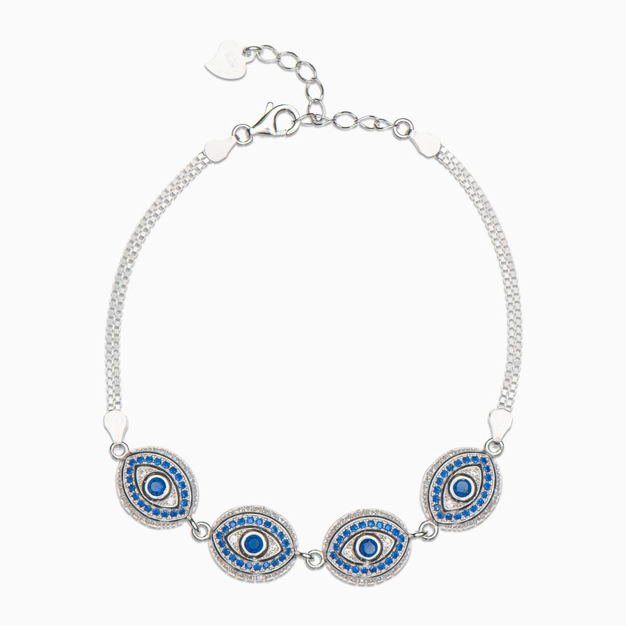 Agatha Sterling Silver Bracelet - Evil Eye Collective