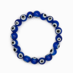 Hand Made Glass Evil Eye Bracelet