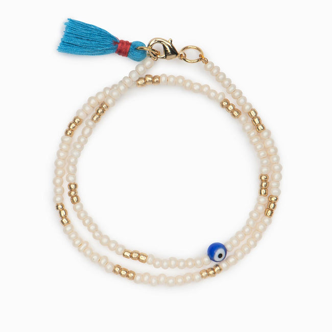 Aspro Beaded Bracelet - Evil Eye Collective