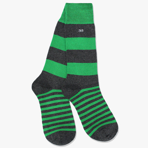 Calcetines Rugby Verde/Gris