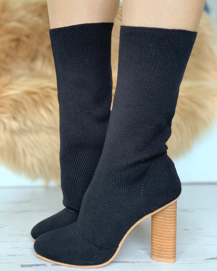Solid Love  Sock Boots
