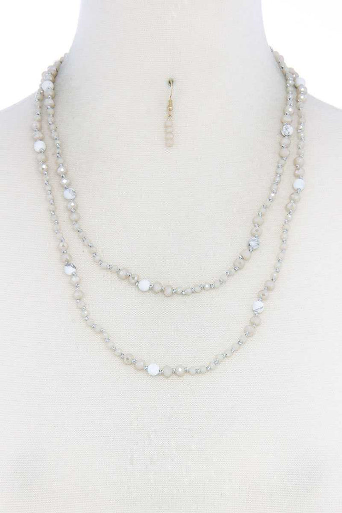 Day Dream Beaded Necklace And Earring Set