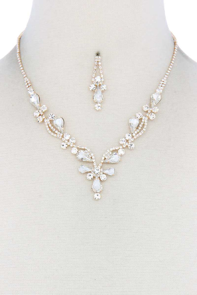 Five Star Rhinestone Necklace