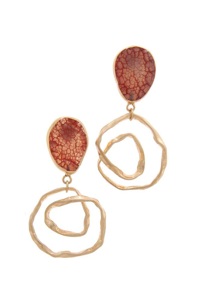 The Dazzle Factor Circle  Shaped Drop Earring