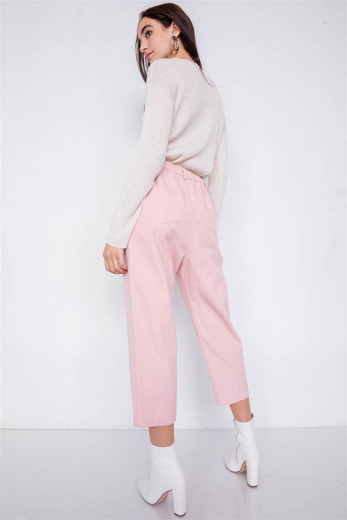 Cozy Life  Wide Leg Adjustable Waist Pants