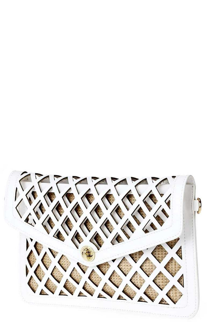 She Diamond Diva Envelope Clutch With Strap
