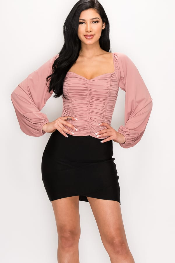 Balch Springs Ruffled Long Sleeve Top