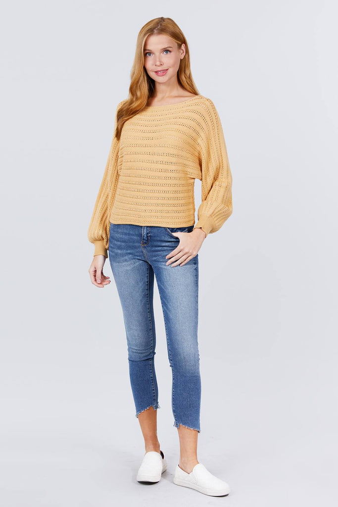 Sienna Boat Neck Sweater