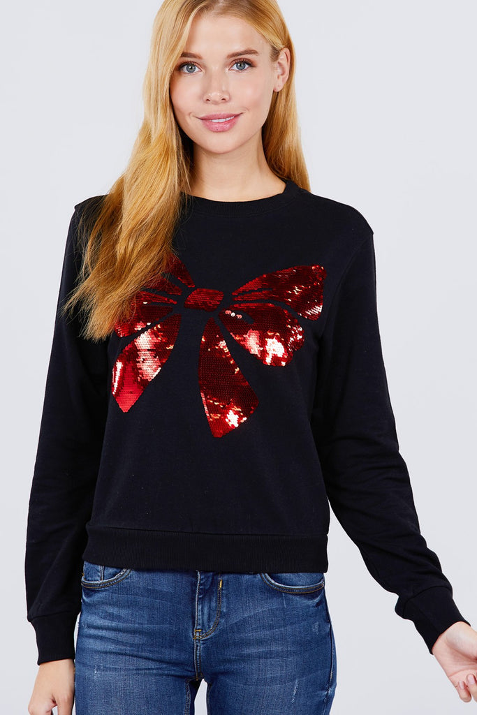 Midrise Embroidered Pullover
