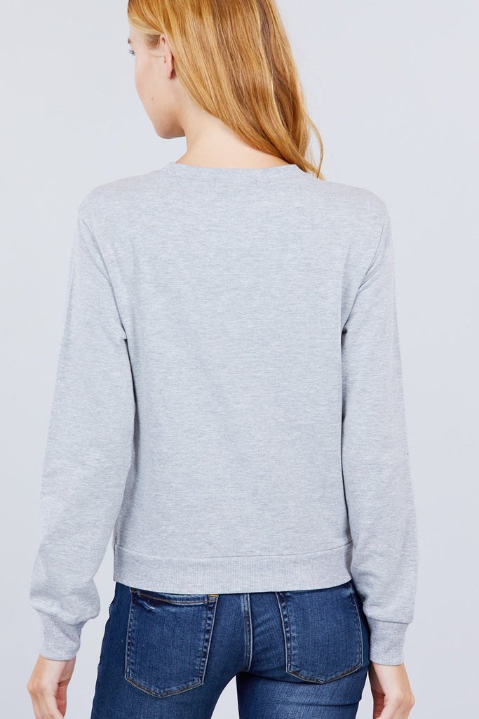 Shape Of You Embroidered Pullover