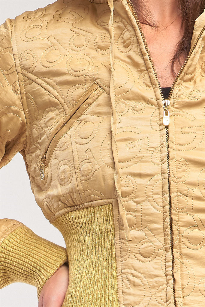 Rocket Charm Cropped Winter Bomber Jacket