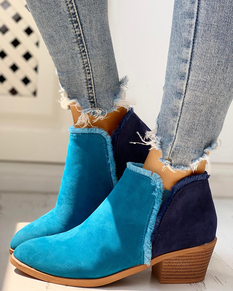 Solid Love Heeled Boots
