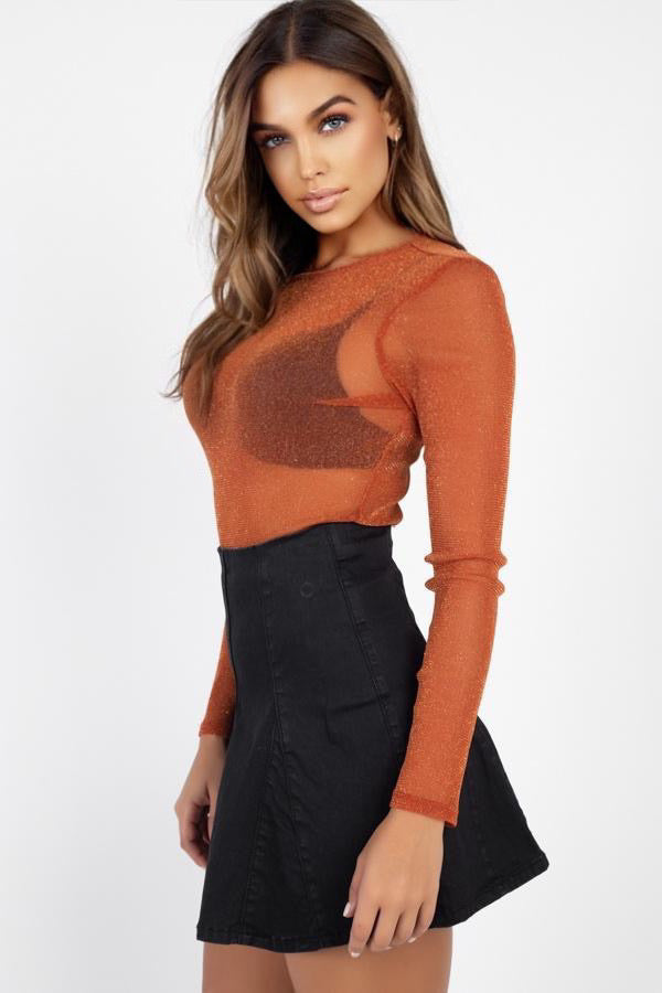 Catchy Sheer Mesh Top