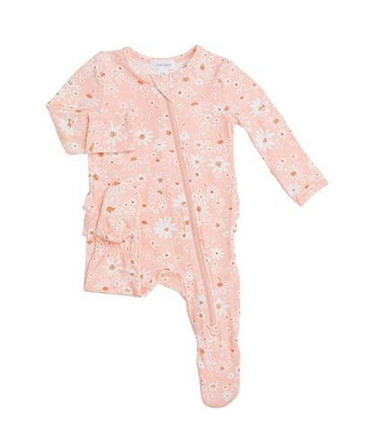 Angel Dear Daisy Chain Ruffle Zip Footie
