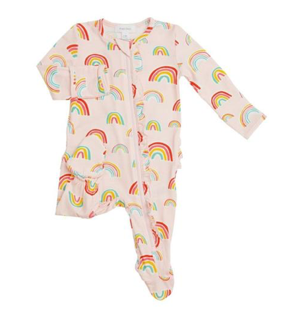 Angel Dear Rainbow Ruffle Zip Footie