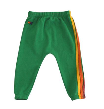 Aviator Nation 5 Stripe Sweatpants in Green