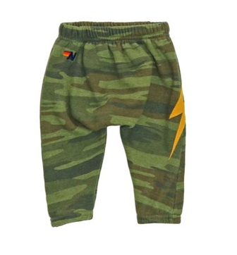 Aviator Nation Camo Bolt Stitch Up Sweatpants