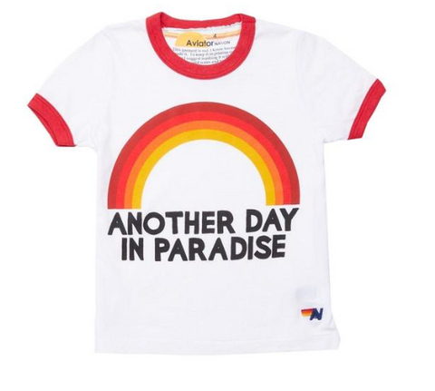 Aviator Nation Kids Another Day In Paradise Tshirt (Unisex)