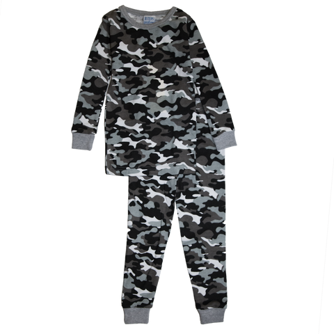 Baby Steps - Camo Thermal PJs