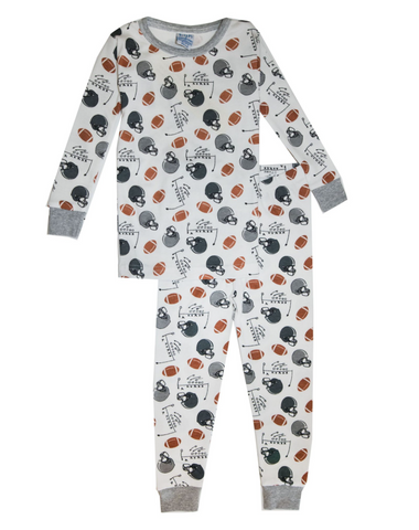 Baby Steps - Football Two Piece Pajamas