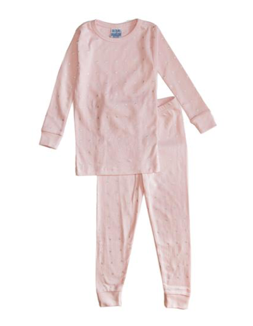 Baby Steps Metallic XO Two Piece Pajamas