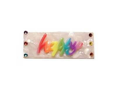 Bari Lynn Rainbow Happy Rectangle Clip