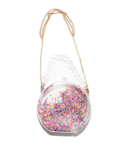 Bari Lynn Sequin Star Acrylic Clear Bag