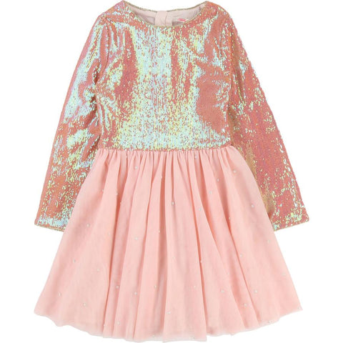 Billieblush - Iridescent Sequin Tulle Dress