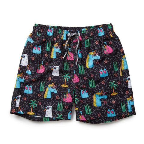 Boardies Retro Unicorn Swim Trunks