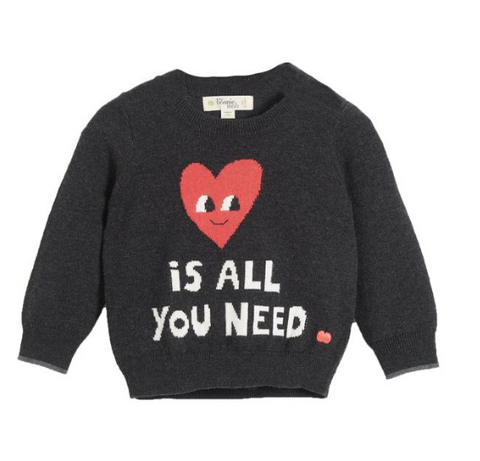 Bonnie Mob Love Is All You Need Intarsia Sweatshirt